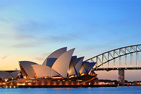 Emigrate to Australia - Sydney backdrop