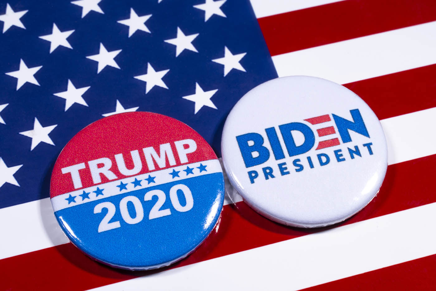 US election pins for Trump and Biden